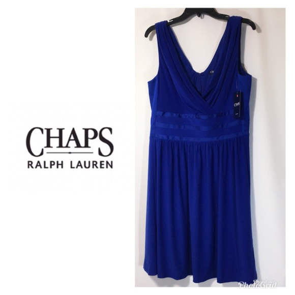 Chaps Dresses Womens Evening Dress Blue Plus Sz 16 Nwt Poshmark